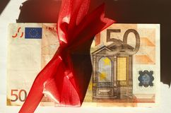 五十欧元钞票 库存图片