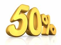 五十金子百分比 免版税库存图片