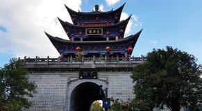 五华队塔,大理,云南,中国老镇  免版税图库摄影