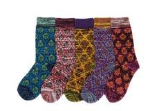 五只冬天袜子 库存图片