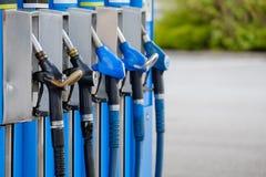 五台油分配器 免版税库存照片