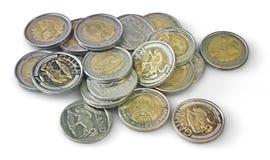 五垫皮硬币 图库摄影