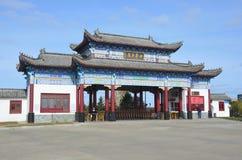 五大连池,中国, 2017年10月, 07日 对入口的入口对北部矿物春天在五大连池 库存图片