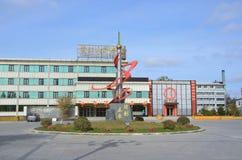 五大连池,中国, 2017年10月, 07日 疗养院`运作的`的第一医务部在五大连池在10月 中国 库存照片