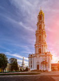 五层拉夫拉钟楼,建造在岁月1741-1770 图库摄影