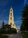 五层拉夫拉钟楼,建造在岁月1741-1770 免版税库存照片