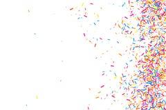 五彩纸屑五颜六色的爆炸  在白色背景隔绝的粒状抽象多彩多姿的纹理 平的设计元素 向量 免版税库存图片