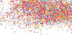 五彩纸屑五颜六色的爆炸  在白色背景隔绝的粒状抽象多彩多姿的纹理 平的设计元素 向量 库存图片