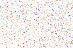 五彩纸屑五颜六色的爆炸  色的粒状纹理传染媒介 免版税图库摄影