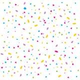 五彩纸屑向量 库存例证