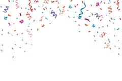 五彩纸屑庆祝框架背景 水平,周年 向量例证