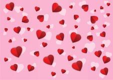 五彩纸屑心脏样式横幅传染媒介 免版税库存图片