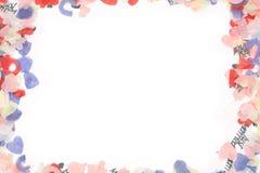 五彩纸屑框架 库存照片