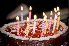 五彩纸屑蛋糕 免版税库存图片