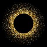 五彩纸屑金火光 闪烁背景 在背景的传染媒介例证 向量例证