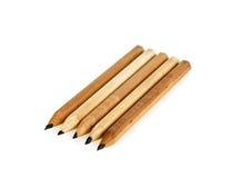 五支查出的铅笔 免版税库存照片