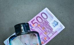 五数百500张欧洲钞票 免版税库存图片