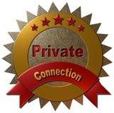 五星私有连接 免版税库存图片