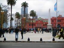 五月广场在布宜诺斯艾利斯 免版税库存图片