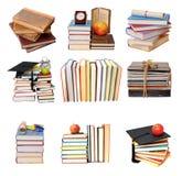 五本古色古香的书 免版税库存照片
