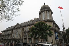 五条伟大的大道历史建筑在天津 免版税库存照片