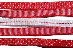 五条礼物丝带的汇集 图库摄影