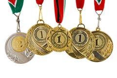 五枚奖牌 免版税库存照片