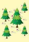 五棵圣诞树 免版税库存照片