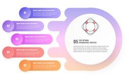 五步Infographic模板 皇族释放例证