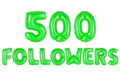 五百个追随者,绿色 免版税库存图片
