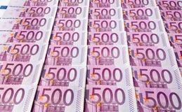 五百张欧洲钞票 免版税库存图片