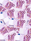 五百欧元背景垂直 库存照片