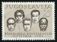 五种族的人 免版税库存图片
