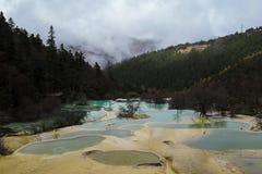 五种颜色湖 免版税库存图片