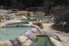 五种颜色湖 库存图片