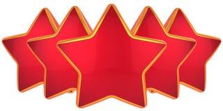 五级的星形顶层 免版税库存照片
