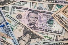 五美元票据 免版税库存照片