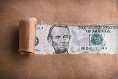 五美元 免版税图库摄影