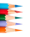 五色的铅笔线路 库存照片