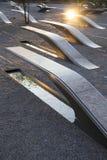 五角大楼纪念品以184条空的长凳为特色 免版税库存图片