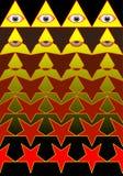 五角星形变换成上帝的眼睛。 库存照片