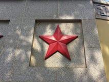 五角星形正方形地面的安心 图库摄影
