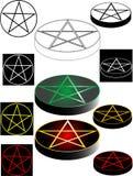 五角星形 库存例证