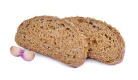 五谷面包和大蒜 免版税库存图片