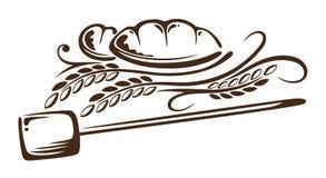 五谷,面包,面包店 向量例证