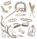 五谷,面包,麦子,面包店 库存例证