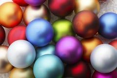 五颜六色中看不中用的物品的圣诞节 库存图片