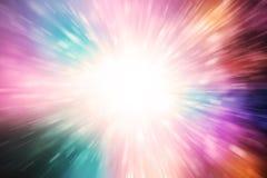 五颜六色光线影响的行动 图库摄影