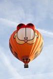 五颜六色加菲尔德气球离开 库存图片