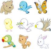 五颜六色动物的婴孩 库存照片